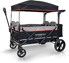 WONDERFOLD X4 4-Passenger Pull/Push Quad Stroller Wagon with Adjustable Handle Bar,..