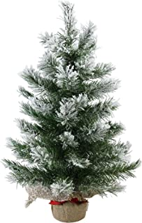 """Northlight Pine Artificial Christmas Tree in Burlap Base, 24"""", White"""