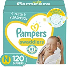 Baby Diapers Newborn/Size 0 (< 10 lb), 120 Count – Pampers Swaddlers, Giant Pack..