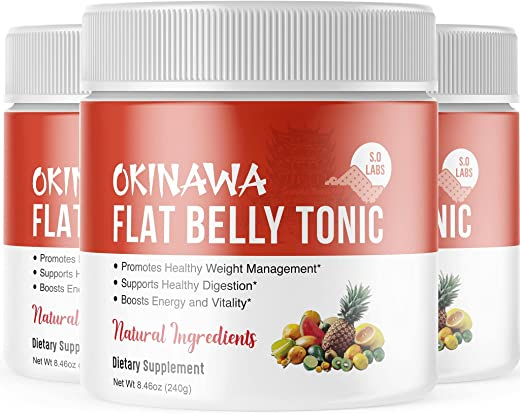 Okinawa Flat Belly Tonic Powder Drink Japan Supplement Reviews (3 Pack)