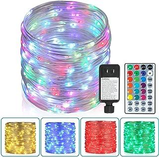Outdoor String Lights,80 Ft Rope Lights 240 LEDs Color Changing Lights with Remote,..