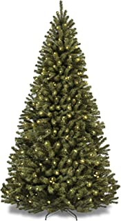 Best Choice Products 6ft Pre-Lit Spruce Hinged Artificial Christmas Tree w/ 250..