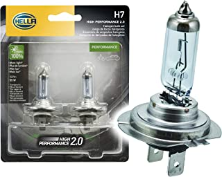 HELLA H7 2.0TB High Performance Bulb, 12V, 55W, 2 Pack