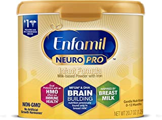 Enfamil NeuroPro Baby Formula Milk Powder 20.7 oz Reusable Tub, Dual Prebiotics for..