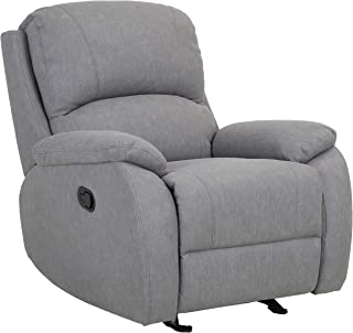 """Amazon Brand – Ravenna Home Oakesdale Contemporary Recliner, 35.4""""W, Langley Grey"""