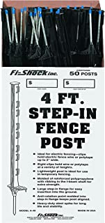 Fi-Shock Step-In Fence Post (50 Pack), 4'