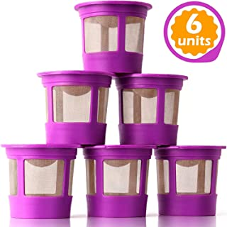 GoodCups 6 Reusable K Cups for Keurig K-Duo, K-Classic, K-Elite, K-Select, K-Cafe,..
