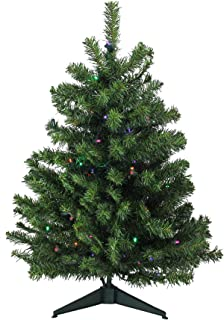Northlight 3' Pre-Lit Full Canadian Pine Artificial Christmas Tree –..