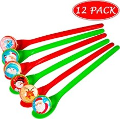 Christmas Game Bouncy Ball Spoon Relay Race Toy for Kids Adults Indoor Outdoor Decorations Xmas/Holiday/Winter Party Supplies Favors