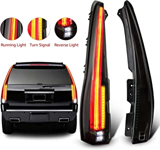 MOSTPLUS LED Tail Lights Cadillac Style Rear Compatible for 2007-2014 Chevy Tahoe..
