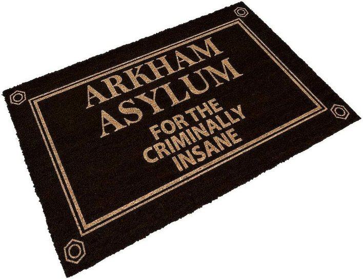 SD toys Star Wars Felpudo diseño Arkham Asylum, Fibra De Coco, Negro, Decoración del hogar