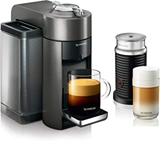 Nespresso by De'Longhi ENV135GYAE Coffee and Espresso Machine Bundle with Aeroccino..
