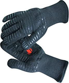 GRILL HEAT AID Extreme Heat Resistant BBQ Gloves. High Dexterity Handling Hot Food Right..