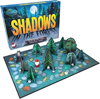 ThinkFun Shadows in the Forest Play in the Dark Board Game for Kids and Families Age 8..