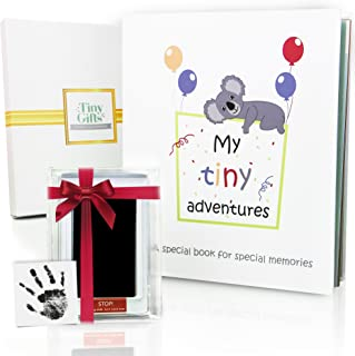 First 5 Years Baby Memory Book + Clean-Touch Ink Pad + Gift Box. Record Your Girl or Boy..