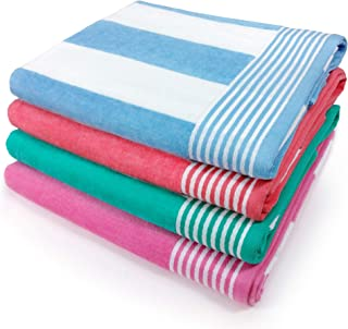 Kaufman – Velour Cabana Towels 4-Pack – 30in x 60in
