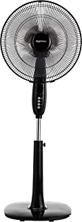 AmazonBasics Oscillating Dual Blade Standing Pedestal Fan with Remote – 16-Inch