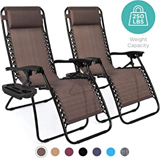 Best Choice Products Set of 2 Adjustable Zero Gravity Lounge Chair Recliners for Patio,..