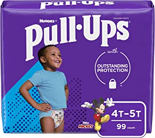 Pull-Ups Boys' Potty Training Pants Training Underwear, Multi-colored, 4T-5T (99 Count)