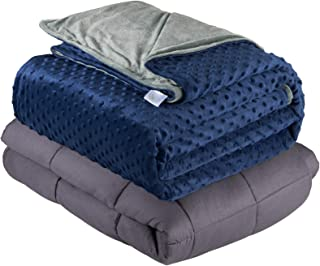 Quility Premium Adult Weighted Blanket & Removable Cover – for Individual..