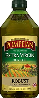 Pompeian Robust Extra Virgin Olive Oil, First Cold Pressed, Full-Bodied Flavor, Perfect for Salad Dressings and Marinades,...