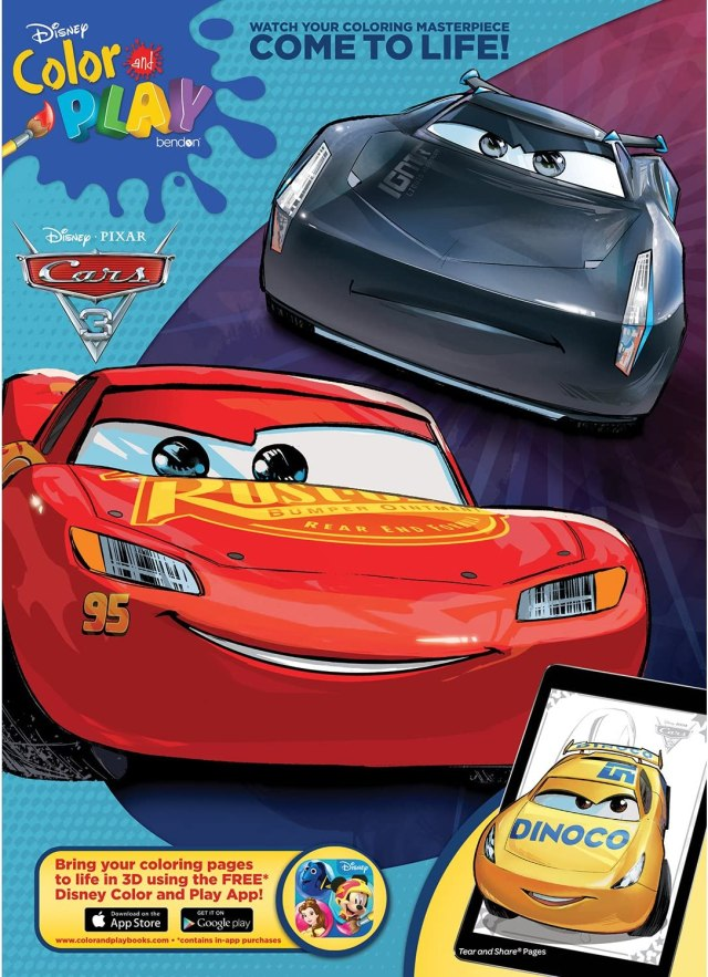 Disney Bendon Cars 27 27-Page Jumbo Coloring and Activity Book, Assorted  Styles (592787)