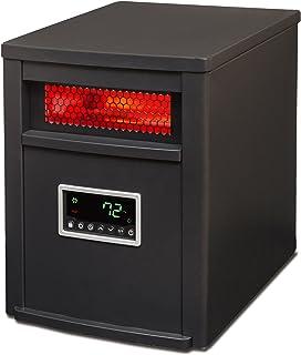 LIFE SMART LifeSmart 6 Element w/Remote Large Room Infrared Heater, Black/Gray
