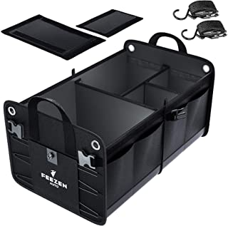 Feezen Car Trunk Organizer for SUV, Truck, Auto. Durable Collapsible Cargo Storage. With..