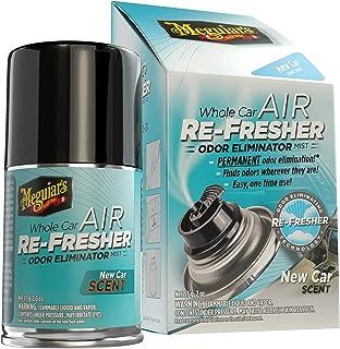 Meguiar's G16402 Whole Car Air Re-Fresher Odor Eliminator Mist, New Car Scent, 2 Fluid Ounces