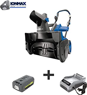Snow Joe iON18SB 40-Volt iONMAX Cordless Brushless Single Stage Snowblower Kit | 18-Inch..