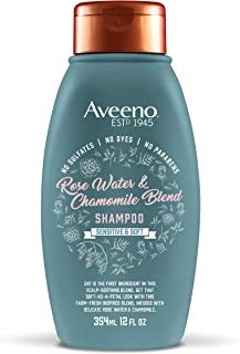 Aveeno Scalp Soothing Rose Water & Chamomile Blend Shampoo, Fresh 12 Fl Oz