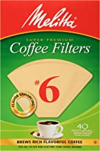 Melitta #6 Cone Coffee Filters, Natural Brown, 40 Count (Pack of 12)