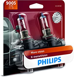Philips Automotive Lighting 9005 X-tremeVision Upgrade Headlight Bulb with up to 100%..