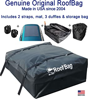 RoofBag Rooftop Cargo Carrier Made in USA, 15 Cubic Feet. Waterproof Car Top Carriers..