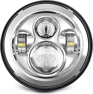 SUNPIE 7 inch LED Headlights For Harley CHROME PROJECTOR DAYMAKER HID LED LIGHT BULB for..