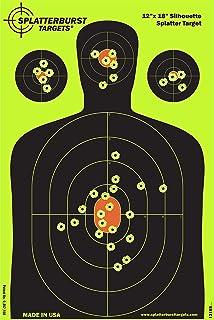 Splatterburst Targets – 12 x18 inch – Silhouette Reactive Shooting Target..