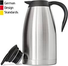 New 68 Oz (2 Liter) German-Designed Thermal Coffee Carafe | Stainless Steel Insulated..