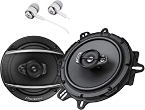 """Pioneer TS-A1670F 6.5"""" 320 Watts Max 3-Way Car Speakers Pair Carbon and Mica.."""