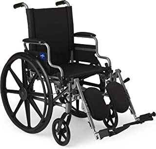 Medline Lightweight & User-Friendly Wheelchair With Flip-Back, Desk-Length Arms &..