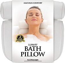 Bath Pillow (Premium Quality), Luxury Bathtub Pillow Rest (Powerful Suction Cups), Bath..