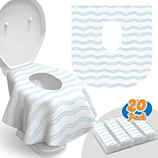 Toilet Seat Covers Disposable – 20 Pack – Waterproof, Ideal for Kids and..