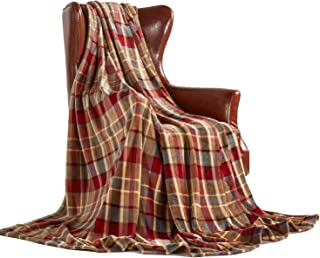 MERRYLIFE Throw Blanket Plaid| Ultra-Plush Soft Colorful Oversized | Decorative Couch..