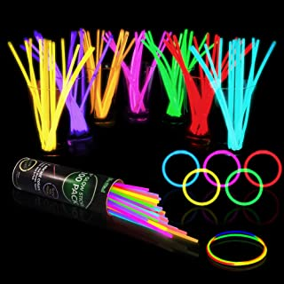 100 Glow Sticks Bulk Party Supplies – Halloween Glow in The Dark Fun Party Pack..