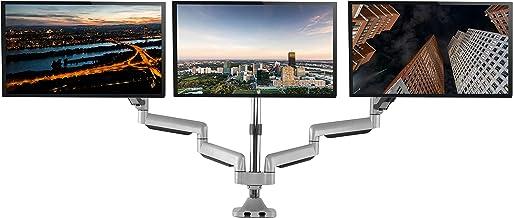 TechOrbits Three Monitor Stand Mount – SmartSWIVEL – Triple Computer Screen..