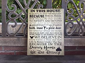 Disney Themed House Rules Custom Canvas, Father's Day Gift, We Do Disney,..