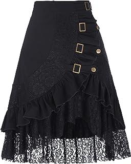 Belle Poque Falda Asimétrica