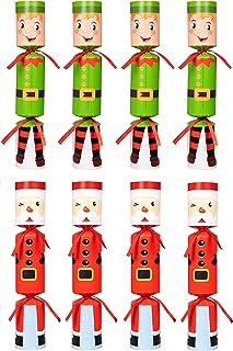 Moon Boat 8 Packs Christmas No-snap No-pop Santa Claus Elf Party Favor Holiday Supplies..