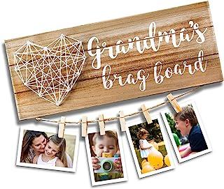 VILIGHT Grandma's Brag Board – Gifts for Grammy from Granddaughter and Grandson..