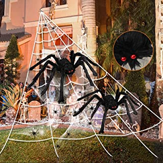 """276"""" Spider Webs Halloween Decorations, 36"""" Giant Spider+20""""Large Scary.."""