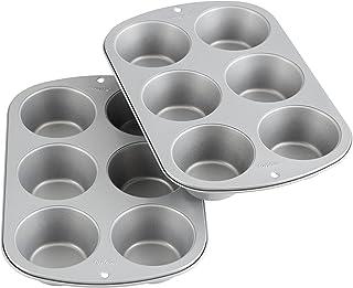 Wilton Recipe Right Non-Stick 6 Cup Jumbo Muffin Pan, Set of 2